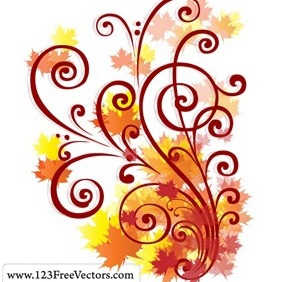 Free Autumn Swirl Vector - бесплатный vector #216945