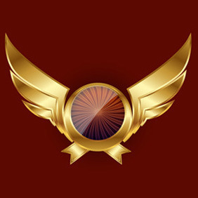 Gold Wings - vector #216975 gratis