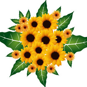 Flowers Bouquet - Free vector #216995