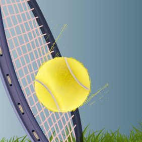 Tennis Shot - Free vector #217155