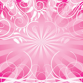 Vector Swirls Pink Design - vector gratuit #217185