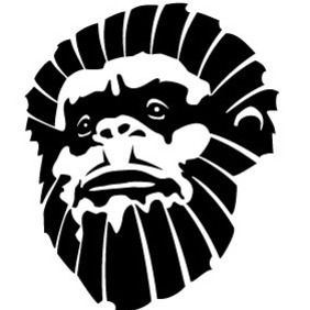 Monkey Face Vector - Free vector #217265
