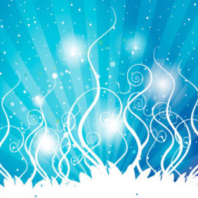 Blue Shinning Vector Swirls - бесплатный vector #217385