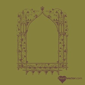 Antique Frame Vector 2 - vector #217525 gratis