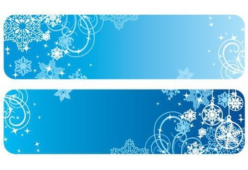 Winter Banners - vector gratuit #217645