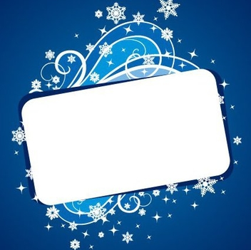 Christmas Banner Blue - Free vector #217665