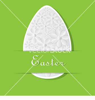 Free green card for easter vector - Kostenloses vector #217735