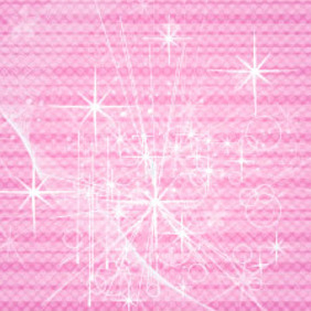 Abstract Stars Pink Vector Background - vector #217775 gratis