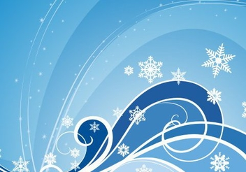 Winter Background - vector #217895 gratis
