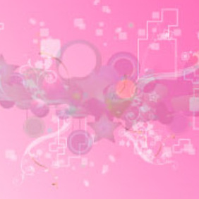 Pink Retro Art Design - Free vector #218065