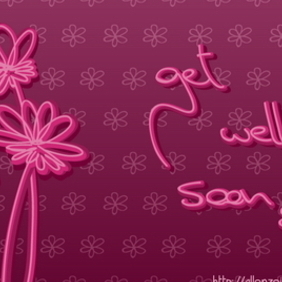 Get Well Soon Card - vector #218165 gratis