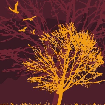 Tree and birds - Free vector #218355