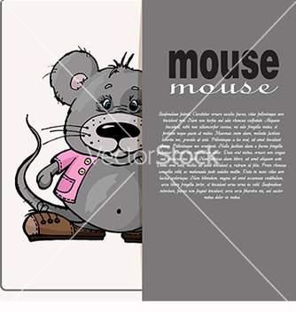 Free card with text and mouse vector - бесплатный vector #218375