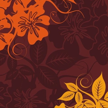 Flowery wallpaper - vector #218385 gratis