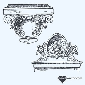 Antique Ornaments Vector Pack - Free vector #218625