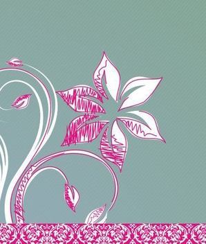 Flower drawing - Free vector #218685