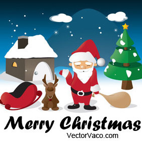 Christmas Illustration - vector #218695 gratis