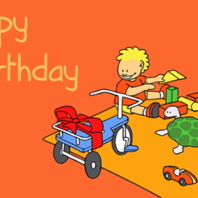 Birthday Card 1 - vector gratuit #218745