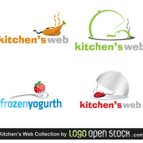 Kitchens Web Logo Collection - Free vector #218775