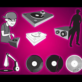 DJ Vector Graphics - Free vector #218935