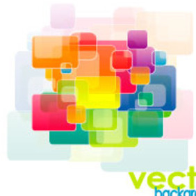 Colored Square Graphic Design - vector gratuit #218945