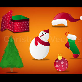 Christmas Vector Set - Free vector #218955