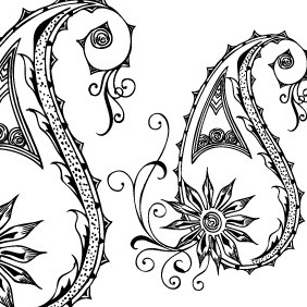 Vector Paisley Designs - Free vector #218965