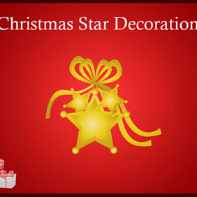 Christmas Star Decoration - Free vector #219235