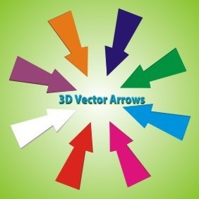Rainbow Vector Arrows - vector gratuit #219325