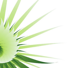 Green Abstract Flower Vector Background - Free vector #219385