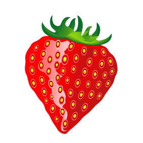 Strawberry Fruit Vector - Free vector #219455