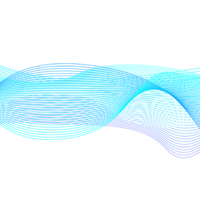 Blue Wavy Lines On White Background - Kostenloses vector #219465