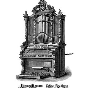 Antique Cabinet Pipe Organ - vector gratuit #219515