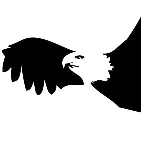 Bald Eagle Silhouette - Free vector #219765