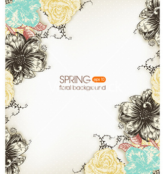Free floral background vector - Free vector #219795