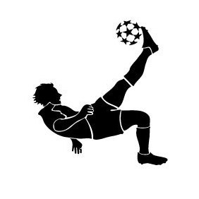 Soccer Player Kicking Ball - Free vector #219845