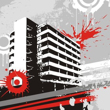 Messy building - Free vector #219925