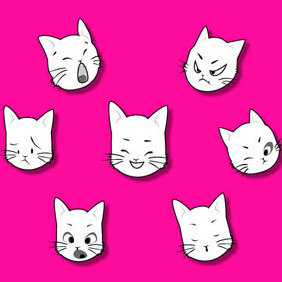 Kitty Vector Graphic - Kostenloses vector #220025