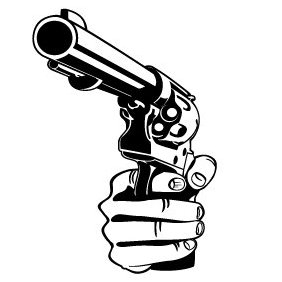 Hand With A Gun Vector - Free vector #220085