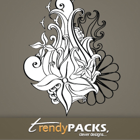 Floral Vector Ornaments - vector gratuit #220175