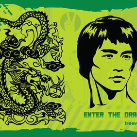 Enter The Dragon - Free vector #220225