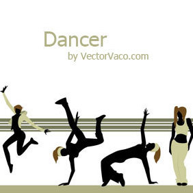 Dancer Vector Illustration - Free vector #220245