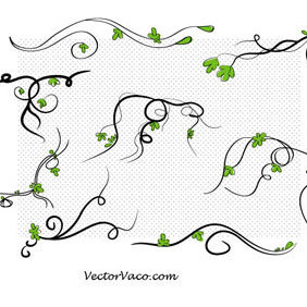 Vector Floral Swirl - Free vector #220425