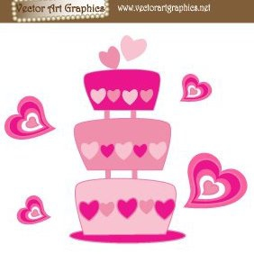 Wedding Cake - Free vector #220435