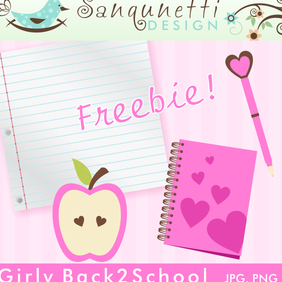 Girly Back2School - vector gratuit #220455