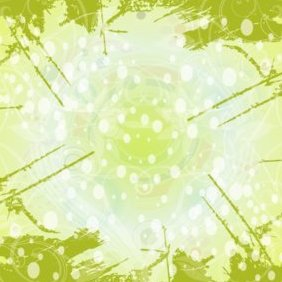 Swirly Grunge Green Background - vector gratuit #220675