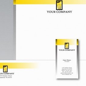 Stationery Design Template - vector gratuit #220685