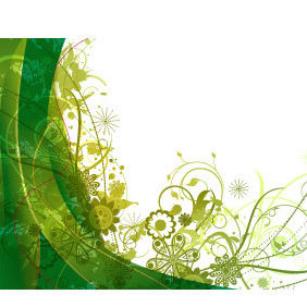 Free Green Vector Summer Background - Free vector #220705
