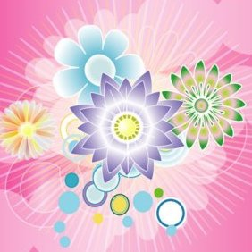 Colorful Rose Design Vector Graphic - Free vector #220735