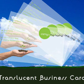 Translucent Business Cards - Free vector #220955